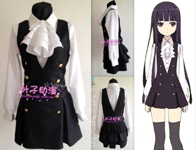 Cosplay Inu X Boku SS Ririchiyo Shirakiin Anime Manga Costumes Kostüme 4 Teile