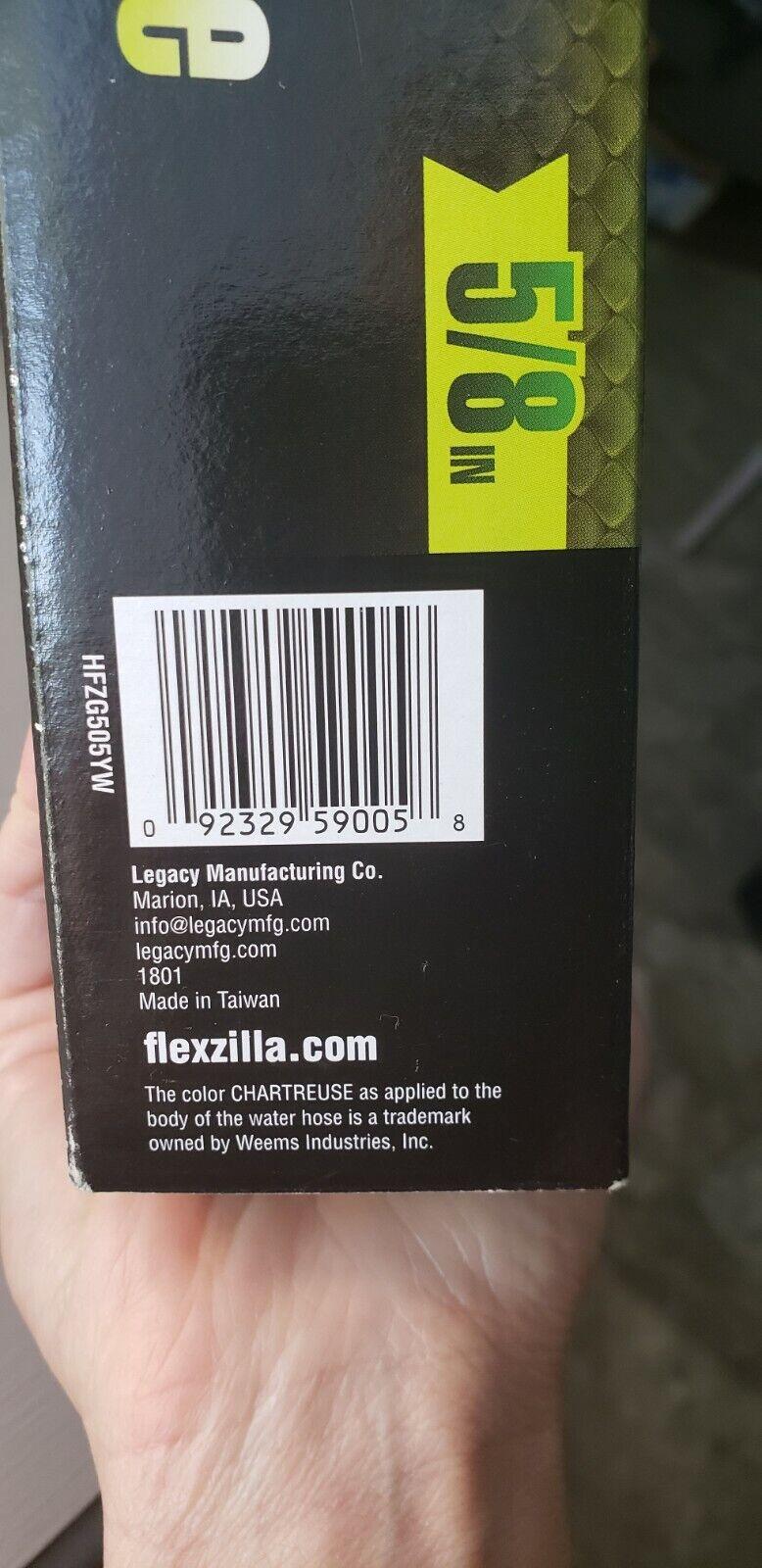 Flexzilla Flexible Hybrid Polymer 5ft 5/8in Lead In Hose- Fast Shipping