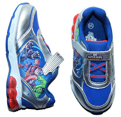 MARVEL AVENGERS HULK Light-Up Sneakers Athletic Shoes Toddler/'s 8.5 to Boys 11.5