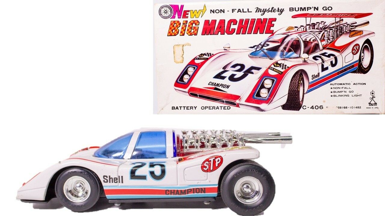 Vintage Campione Racer Giapponese Bump 'N Go Mistero Race Auto W