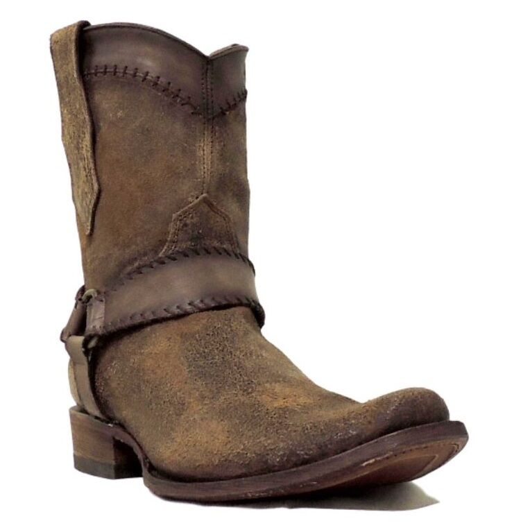 Corral Men's Cognac Harness/Woven Ankle Boot C3164
