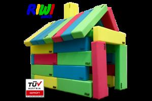 24er riwi bausteinset   XXL espuma de bloques de creación   Soft gigantes bloques de creación   TÜV