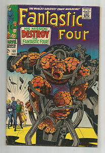 FANTASTIC FOUR (V1) #68: Silver Age Grade 7.0 With Iconic Kirby Cover!!