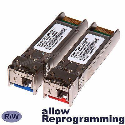 pair Juniper 10km XFP BiDi WDM 10G BX10-D//U 10GB 10 km transceiver 2 modules