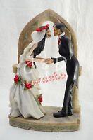Wedding Skeleton Cake Topper-bride-groom-halloween Party Supply- Figurine