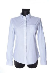 Women-039-s-GANT-Blue-Cotton-Striped-Button-Front-Shirt-Size-us-8-uk-12