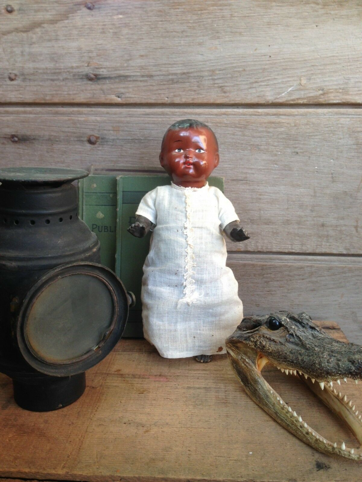 African American Baby doll - antique doll - pre 1930s Babydoll - hard plastic