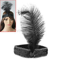 New Feather Headbands Flapper Sequin Costume Fancy Dress Hairband Cocktail Party