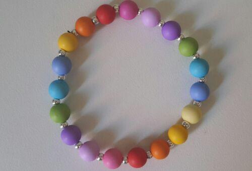 Es wird bunt.. Trend Armband Matt Perlen versch. Farben : neu !! Regenbogen