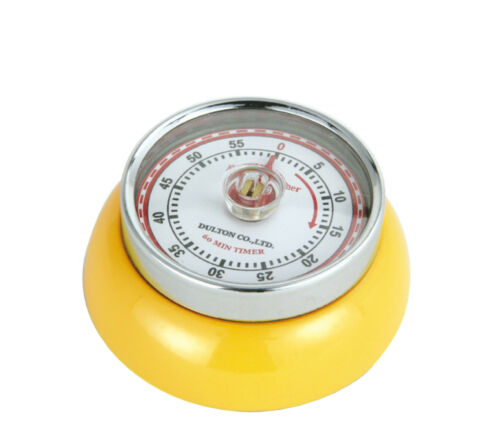 ZASSENHAUS Retro-Timer Eieruhr Kurzzeitmesser SPEED Gelb Magnet Mechanisch NEU