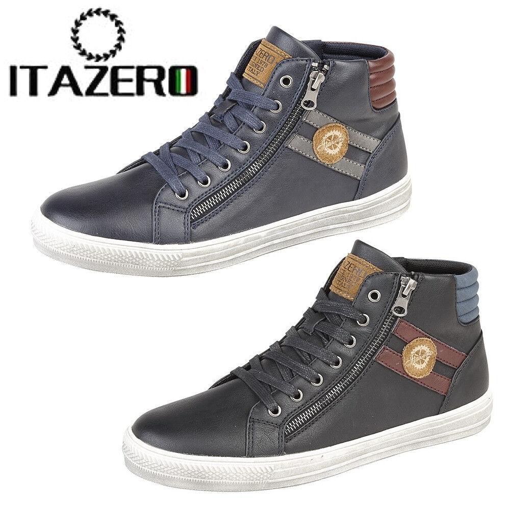 Itazero 'Venezia' Men's Hi Style Top Ankle Boots Gent's Basketball Style Hi Trainers cd260b