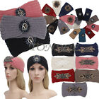 Fashion Women Knit Headband Crochet Winter Warmer Lady Crystal Hairband Headwrap