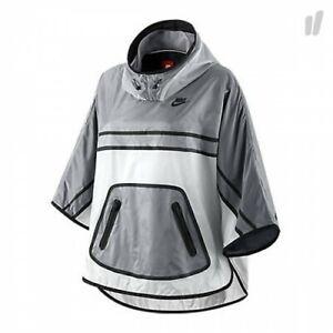 Nike-WOMEN-039-S-TECH-Poncho-Giacca-con-cappuccio-pieghevole-super-leggera-pioggia-a-vento-taglia-M