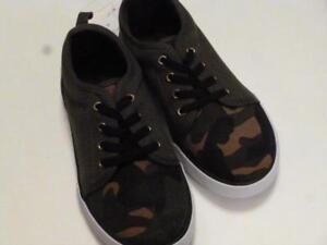 GYMBOREE-Flight-School-Green-Brown-Camo-Canvas-Sneakers-Shoes-10-11-12-13-1-NEW