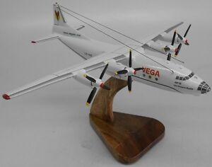 An-12 Vega Airlines Antonov An12 Airplane Mahogany Kiln Dry Wood Model Small New
