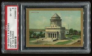 "1911 T99 Sights & Scenes of the World ""Grant's Tomb"" PSA 6 EX-MT Cert #22489913"