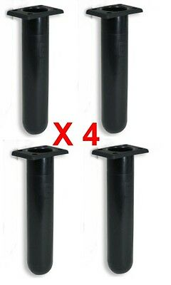 Boat Parts Slimline Straight Black Sporting Goods Hard-Working Rod Holders X 4