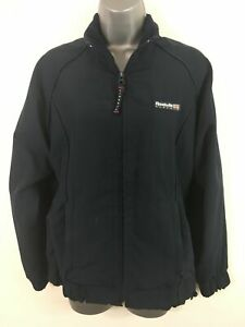 WOMENS-REEBOK-LIFESTYLE-NAVY-BLUE-ZIP-UP-LIGHTWEIGHT-CASUAL-JACKET-SIZE-UK-10
