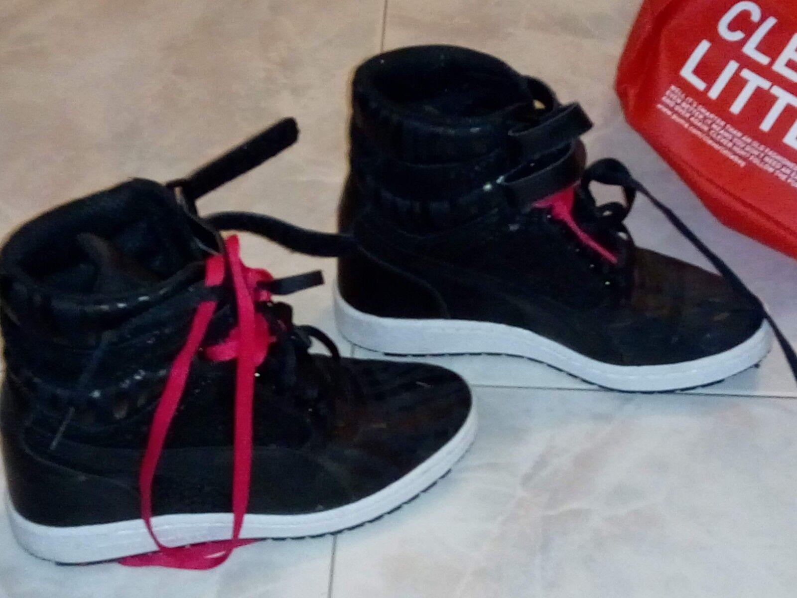 Puma sky wedge reptile sneaker sneaker sneaker nere e rosa f10ce4