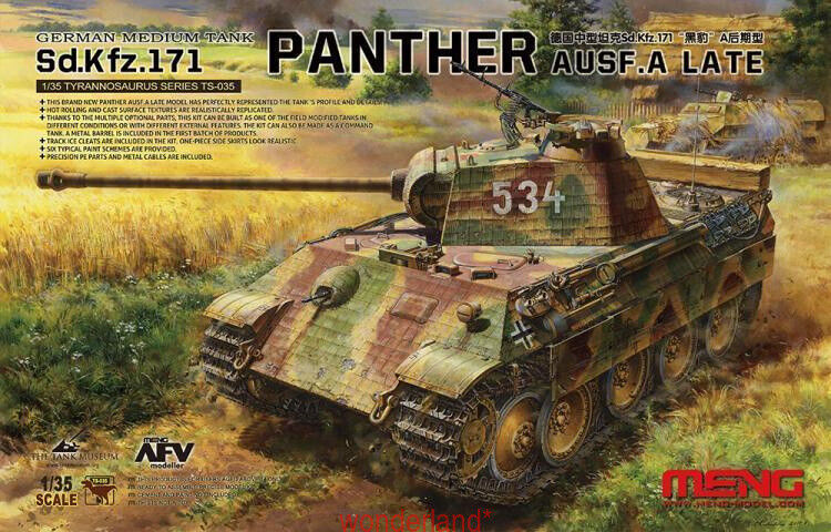 Meng Model 1 35 TS-035 Sd.Kfz.171 Panther Ausf.A Late WWII german
