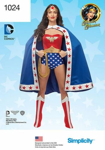 Simplicity Pattern 1024 Misses/' Costume Wonder Woman You Choose Sizes