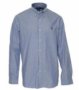 Polo-Ralph-Lauren-Men-039-s-Classic-Fit-Striped-Cotton-Button-Front-Shirt-Blue
