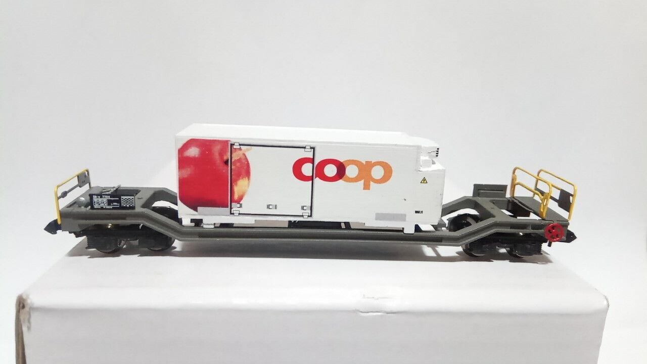 Cochero Sb - V RHB Container frigo Coop Mela scala N  compatibile Kato
