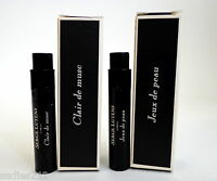 Lot Of 2 Serge Lutens Samples Clair De Musc & Jeux De Peau Parfum 1ml Minis
