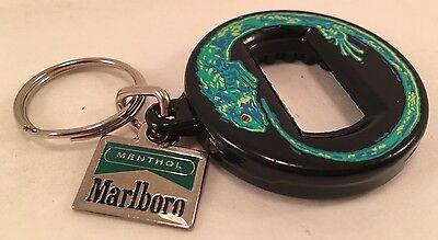 Marlboro Menthol Green Lizard Bottle Opener Key Chain Bev Key Made in Canada
