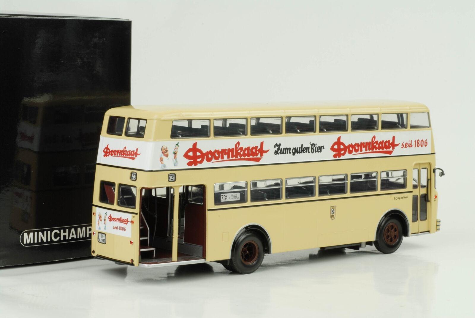 1958 Büssing d2u autobús biplano doornkaat 1 43 Minichamps