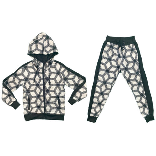 Boys Kids Tracksuit Jacket Joggers Jogging Bottoms Printed Sports Set Outfit