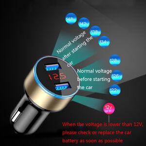 3-1A-Dual-USB-Car-Charger-2-Port-Display-12-24V-Cigarette-Socket-Lighter-UK