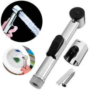 ABS-Spritzgeraet-Handbrause-Kopf-Duese-Toilette-Bidet-Shattaf-Spray-Badezimmer-DE