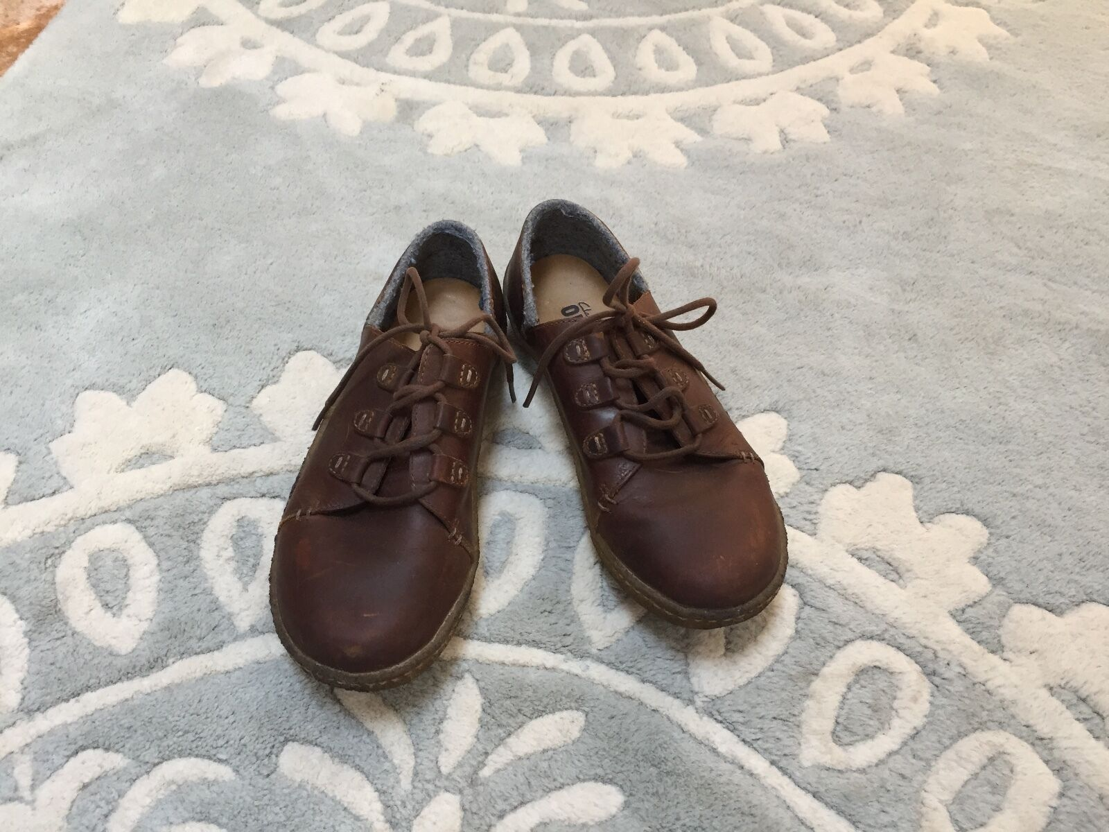 Clarks Originals Latana Oxford Brown Maple Maple Maple Leather Lace Up shoes Crepe Sole 7 8c7f74
