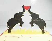 Circus Elephants Pop up Card, 3D Pop up Card , Pop up cards Elephant, Kirigami.