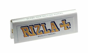 RIZLA-Regular-Genuine-Silver-Cigarette-Rolling-Papers-ORIGINAL-Cheapest-Booklets
