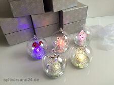5 Stck. Weihnachtskugel m. Beleuchtung Baumschmuck Kugel Glas Adventskranz Baum