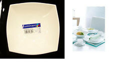 Luminarc Quadrato White 4 Cereal Bowls Square, Arc Glass dinnerware France