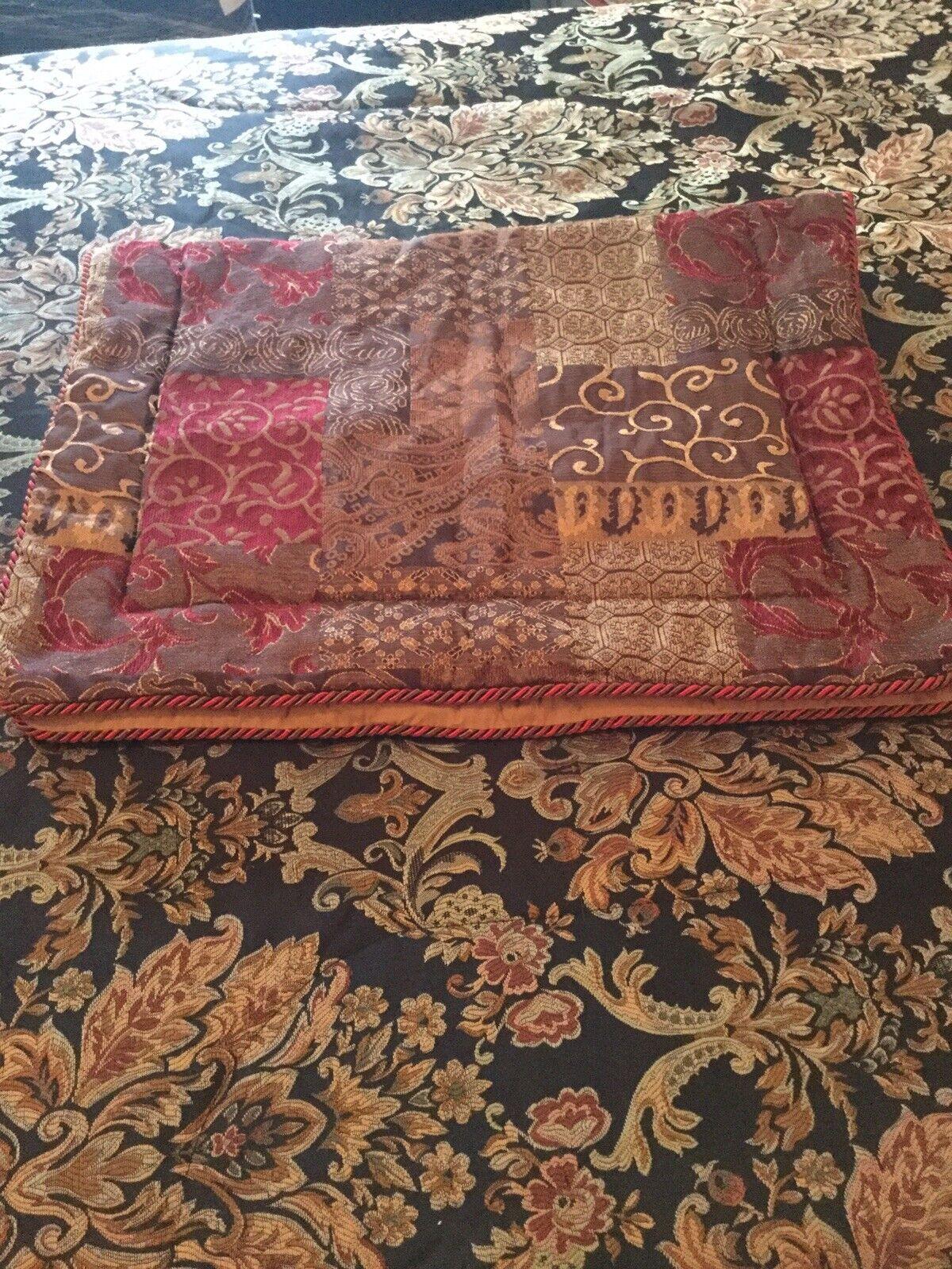 Croscill galleria red king size chenille pillow case