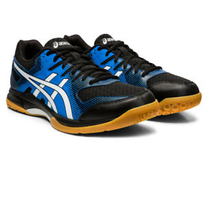 Asics-Homme-Gel-Rocket-9-Cour-Chaussures-Bleu-Sports-Squash-Badminton-Respirant