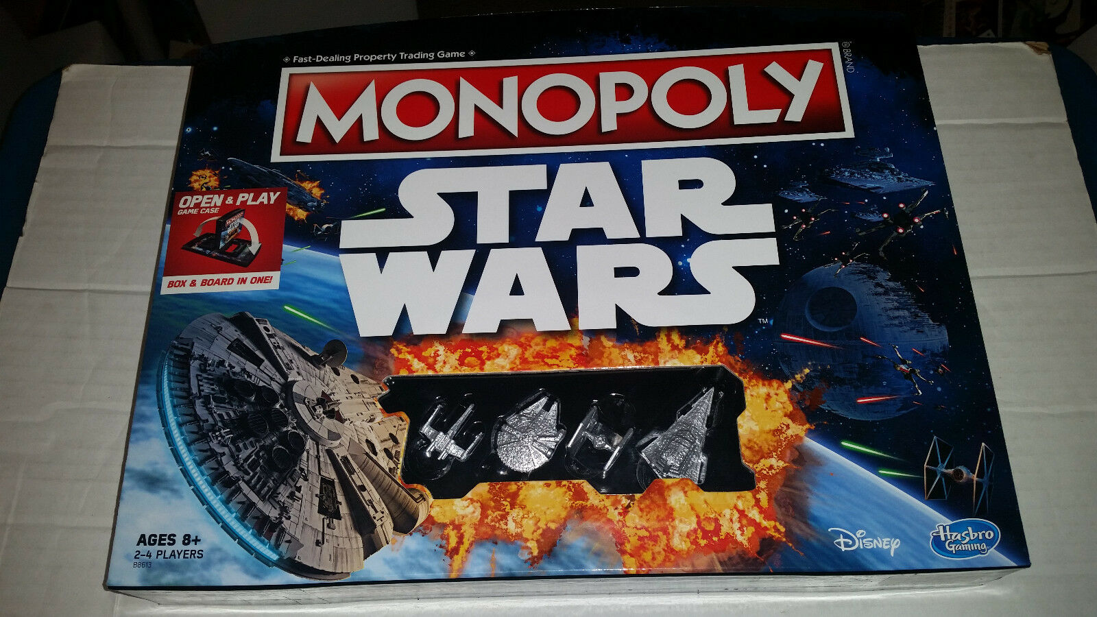 Star Wars Monopoly Open and Play Board Game NEW NEW NEW SEALED d7f971