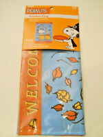 Peanuts Snoopy & Woodstock Welcome Fall Garden Flag 12 X 18 Thanksgiving