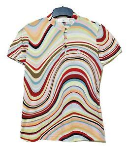 Polo Santa Barbara Multicolor Wavy Striped Top