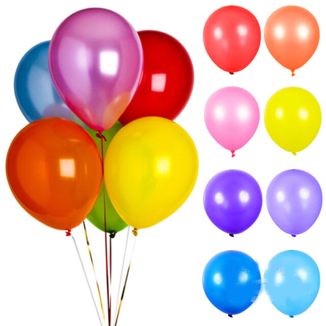 """New 100Pcs Colorful Pearl Latex Balloons Celebration Party Wedding Birthday 10"""""""