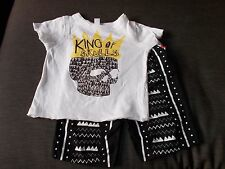Amy Coe 100%Cotton 'King of Skulls' S/Sl Top & Shorts Set 18m 86cm Multi BNWoT