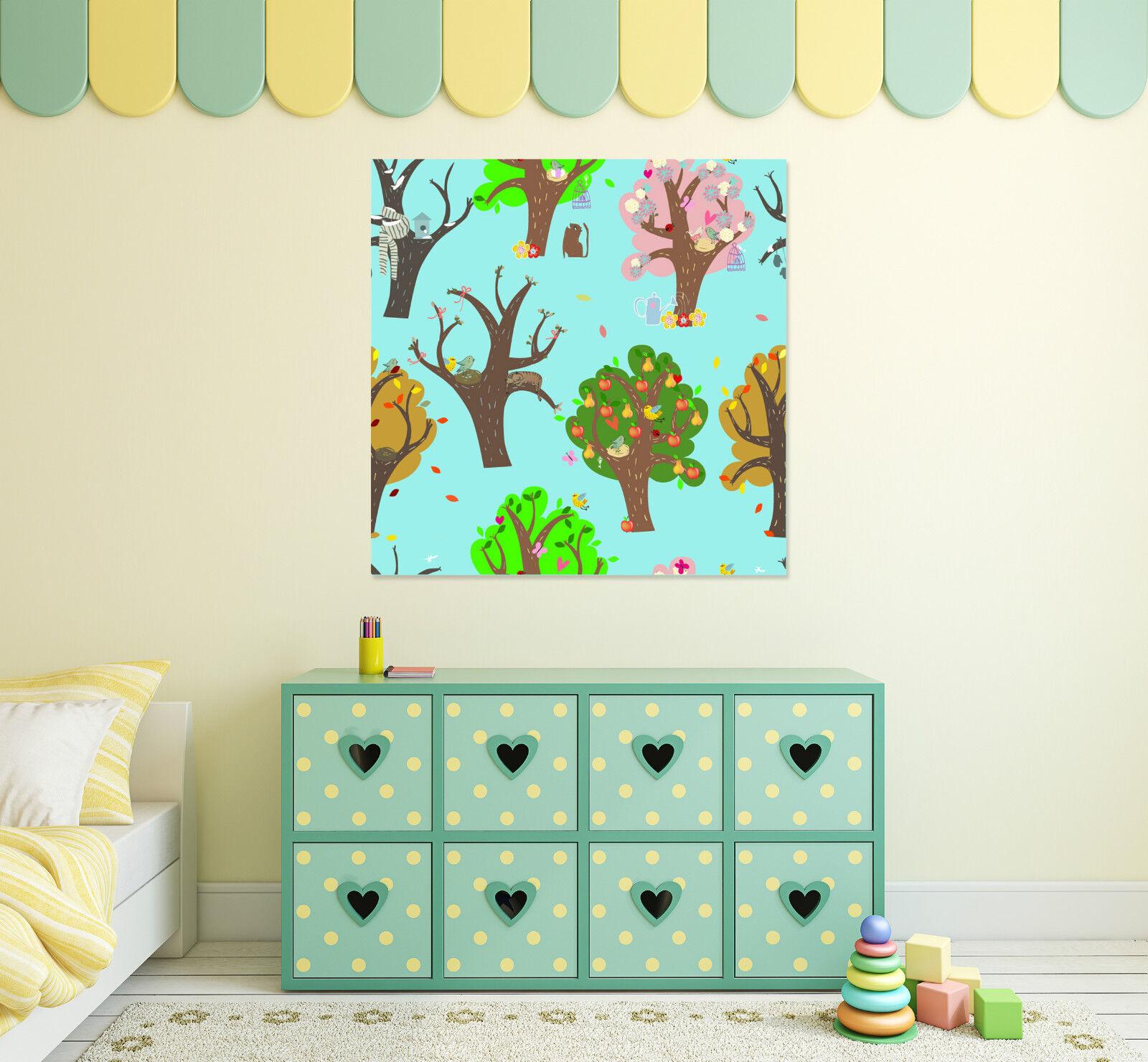 3D Bunte bäume 613 Fototapeten Wandbild BildTapete AJSTORE DE Lemon