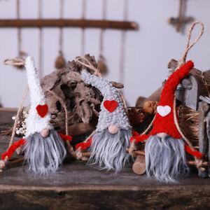 No-Face-Cute-Santa-Claus-Dolls-Christmas-Pendants-Kids-Gift-Xmas-Tree-Ornament-C