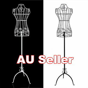 Female-Vintage-Mannequin-Wrought-Iron-Wire-Adjustable-Stand-Clothes-Hanger-Weddi