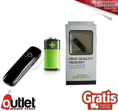 APPLE SAMSUNG Bluetooth CUFFIE Vivavoce WIRELESS AURICOLARI mono Auto MICROFONO Uq0wx7