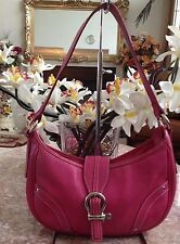 Burberry Pink Nova Check Lining Pebble Leather Hobo Baguette Shoulder Bag
